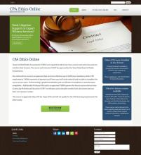 CPA Ethics Online Website image