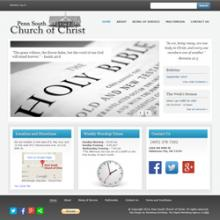 Penn South Church of Christ website image