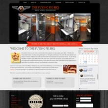 The Flying Pig BBQ website image